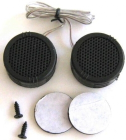 "Coppia 2x Tweeter PIEZO/dinamico 1,5"" 2000W alta efficienza"