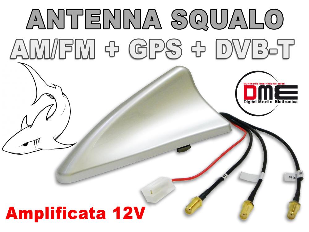 Pinna Di Squalo Tetto SMA Digitale DAB FM GPS Auto Stereo /& Antenna Radio cavi di prolunga