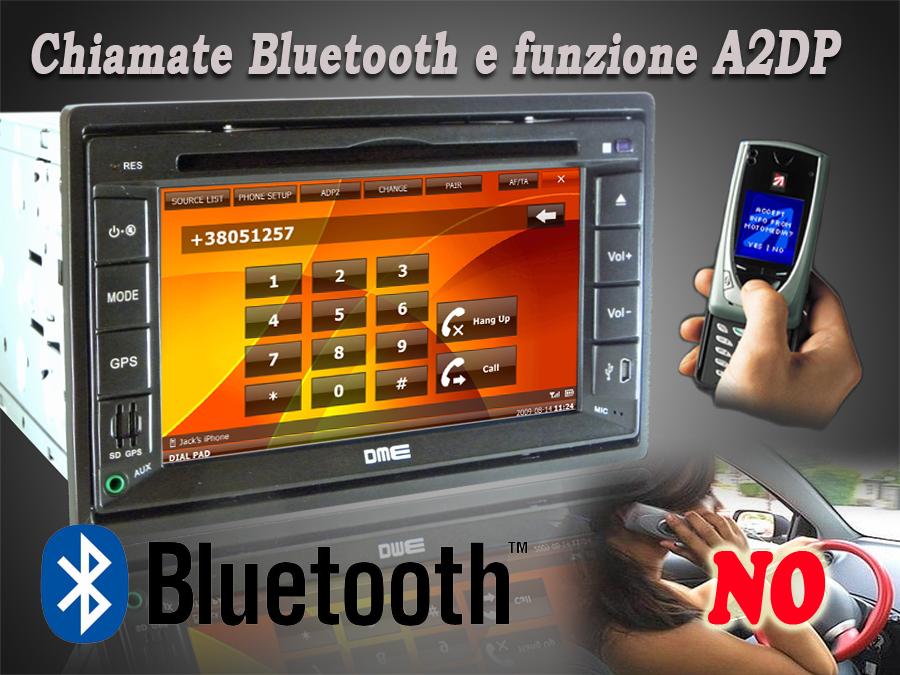 autoradio dme bluetooth a2dp rubrica chiamata chiamare in   vivavoce contatto telefonico comporre i numeri sulla tastiera   touchscreen
