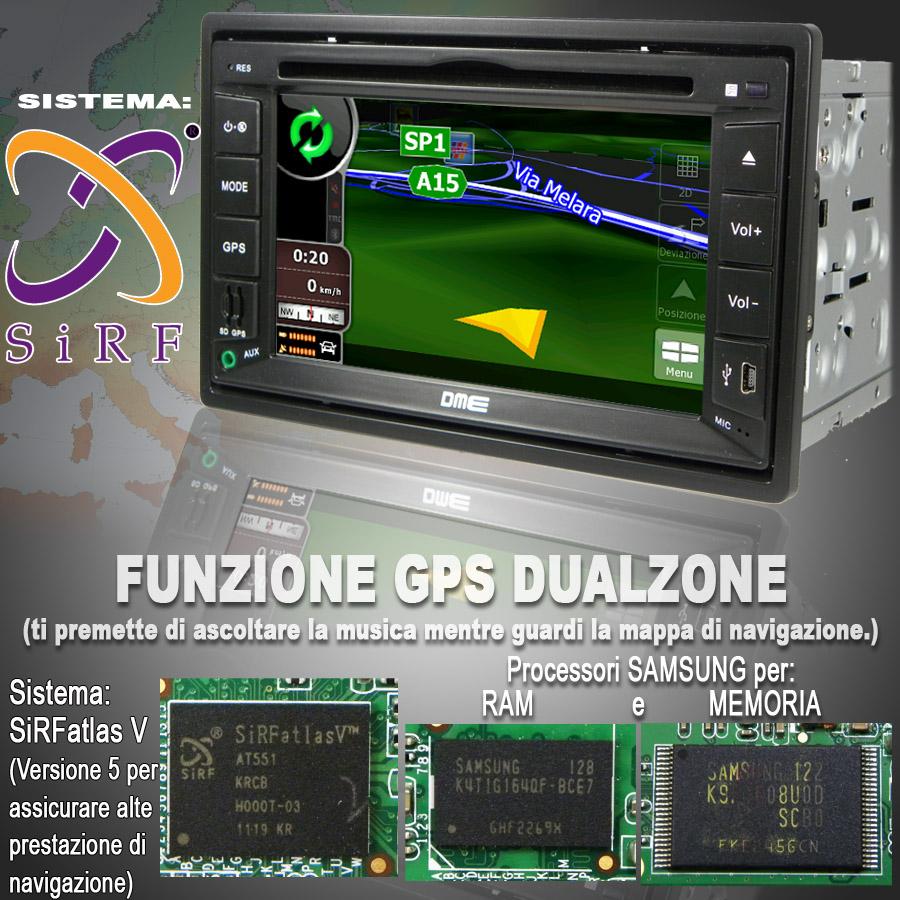 autoradio dme navigatore navigazione sistema navigation gps   route66 igo8 tt tomtom navngo destinator7 sygic win ce 5.0 6.0   tmc dual zone satellitare