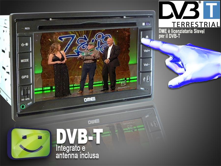 digitale terrestre dvb-t DME-6200GD autoradio dme dvb-t digitale terrestre da auto fernseher digital   sintonizzatore tv analogica amplificata antenna 20db 30db